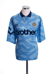 1991-93 Manchester City Home Shirt XL