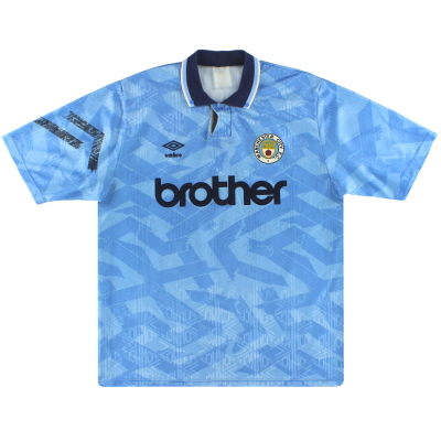 1991-93 Manchester City Umbro Home Shirt XL