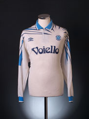1991-93 Napoli Player Issue Away Shirt #15 L/S L