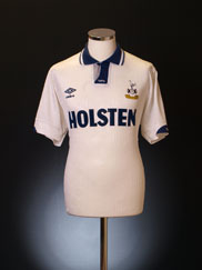 1991-93 Tottenham Home Shirt L