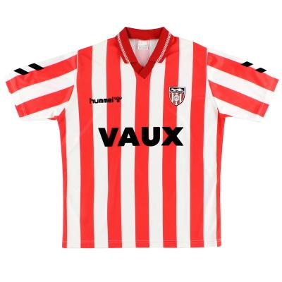 1991-94 Sunderland Hummel Home Shirt M