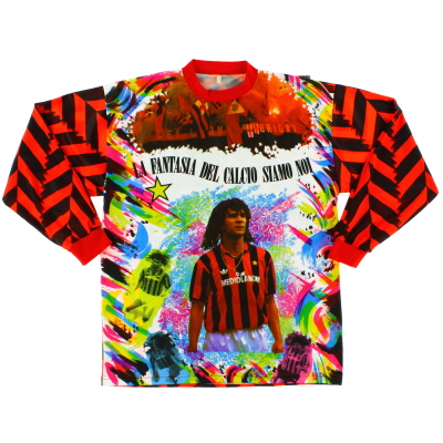 1992-93 AC Milan Graphic Shirt Gullit #10 L/S L