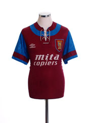 1992-93 Aston Villa Home Shirt *Mint* M