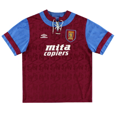 1992-93 Aston Villa Home Shirt #3 XL