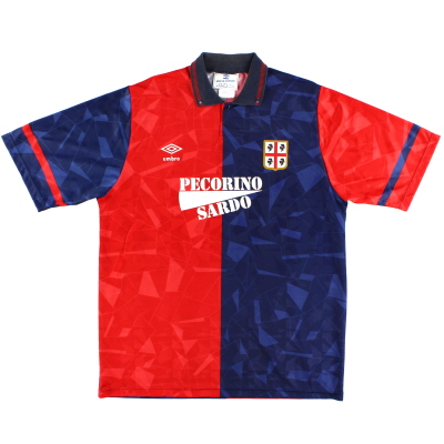 1992-93 Cagliari Umbro Home Shirt XL