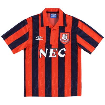 1992-93 Everton Away Shirt L