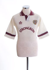 1992-93 Hearts Away Shirt S