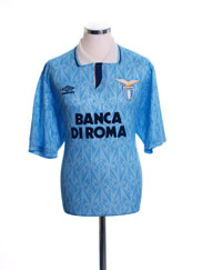 1992-93 Lazio Match Issue Home Shirt #15 XL
