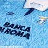1992-93 Lazio Match Issue Home Shirt #15 XL