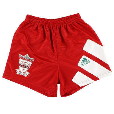 1992-93 Liverpool adidas Centenary Home Shorts S