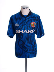1992-93 Manchester United Away Shirt L