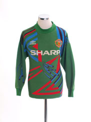 1992-93 Manchester United Goalkeeper Shirt #1 S