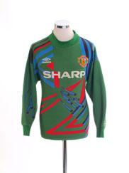 1992-93 Manchester United Goalkeeper Shirt #1 M