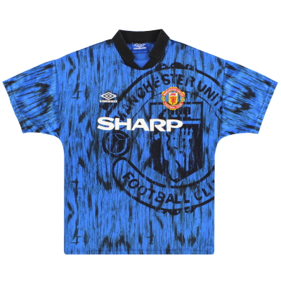 1992-93 Manchester United Umbro Away Shirt *Mint* L
