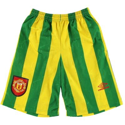 1992-93 Manchester United Umbro Training Shorts S
