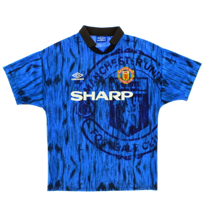 1992-93 Manchester United Umbro Away Shirt S