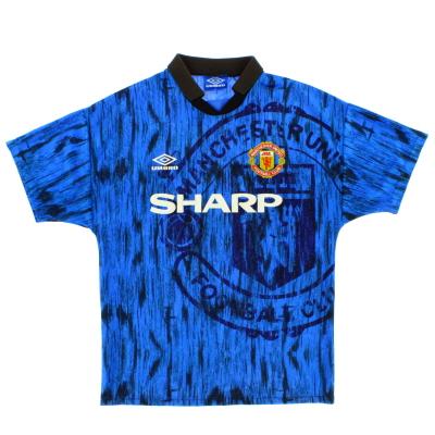 1992-93 Manchester United Umbro Away Shirt L