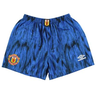 1992-93 Manchester United Umbro Away Shorts M