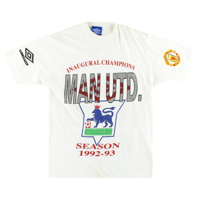 1992-93 Manchester United Umbro 'Champions' Graphic Tee L