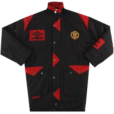 1992-93 Manchester United Umbro Padded Bench Coat S