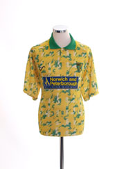 1992-93 Norwich City Home Shirt L