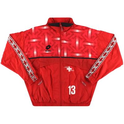 1992-93 Switzerland Lotto Player Issue Track Jacket #13 XXL