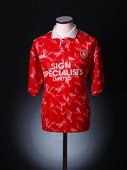 1992-93 Walsall Home Shirt L.Boys