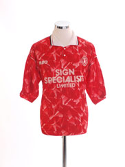 1992-93 Walsall Home Shirt *Mint* M