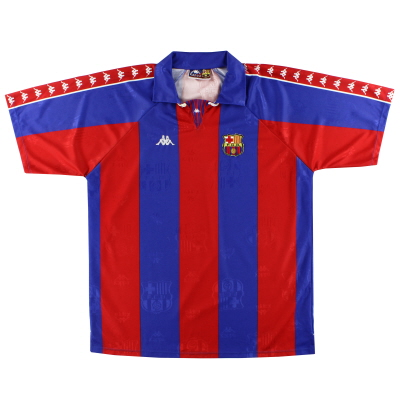 1992-95 Barcelona Kappa European Home Shirt *Mint* XL