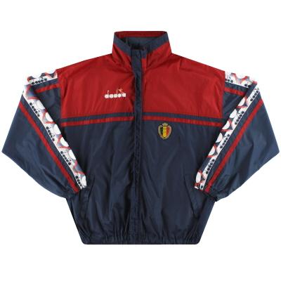 1992-94 Belgium Diadora Hooded Rain Coat *Mint* XL
