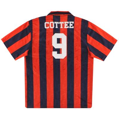 1992-94 Everton Umbro Away Shirt Cottee #9 L