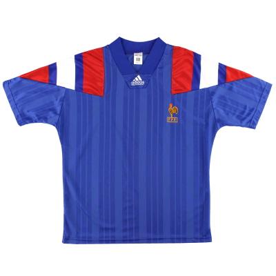 1992-94 France adidas Home Shirt M