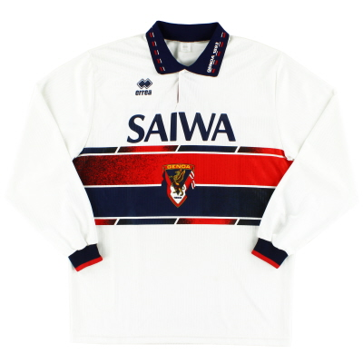 1992-94 Genoa Match Issue Away Shirt #10 L/S XL