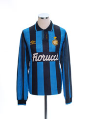 1992-94 Inter Milan Player Issue Home Shirt L/S XL