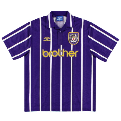 1992-94 Manchester City Umbro Away Shirt XL