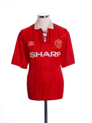 1992-94 Manchester United Home Shirt L