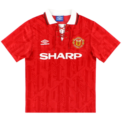 1992-94 Manchester United Umbro Home Shirt XL