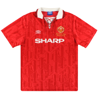 1992-94 Manchester United Umbro 'Champions' Home Shirt XL