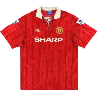 1992-94 Manchester United Umbro Home Shirt L