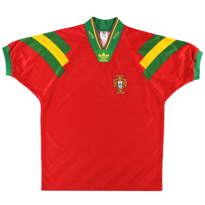 1992-94 Portugal adidas Home Shirt *Mint* M