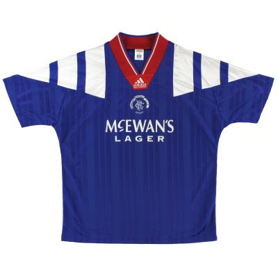 1992-94 Rangers adidas Home Shirt L