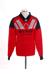 1992-94 Rangers Goalkeeper Shirt L