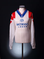 1992-94 Rangers Player Issue Away Shirt L/S XL