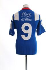 1992-94 Rangers Signature Home Shirt Ally McCoist #9 M