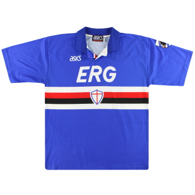 1992-94 Sampdoria Asics Home Shirt XL