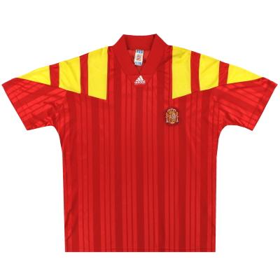1992-94 Spain adidas Home Shirt L