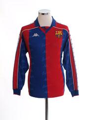 1992-95 Barcelona Home Shirt L/S Womens 14