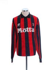 1993-94 AC Milan Home Shirt #3 L/S XL