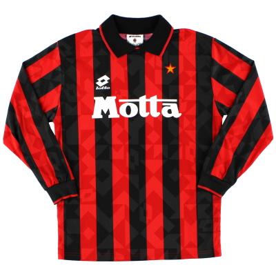 1993-94 AC Milan Lotto Home Shirt L/S *Mint* XXL.Boys