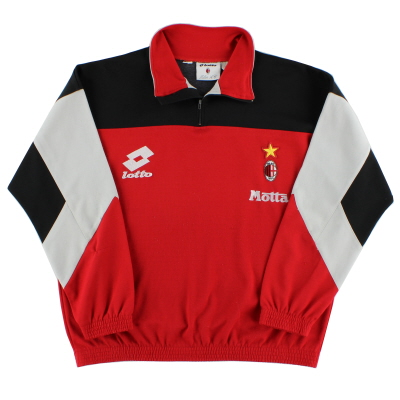 1993-94 AC Milan Lotto 1/4 Zip Drill Top XXL